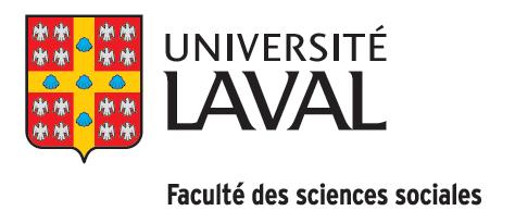 Université Laval Faculté des sciences sociales